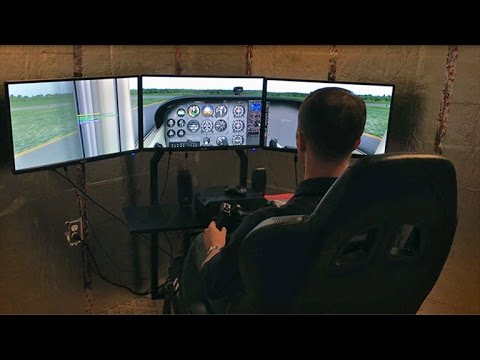Gleim X-Plane Flight Training Course Demonstration (видео)