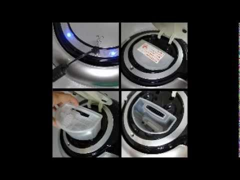 iRova Robot Vacuum Cleaner K6L (Black) dengan LED Light & Mop
