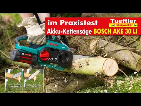 Bosch AKE30LI Akku-Kettensäge im Praxistest