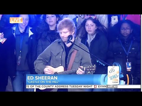 Ed Sheeran - Castle on the Hill - Today Show (видео)