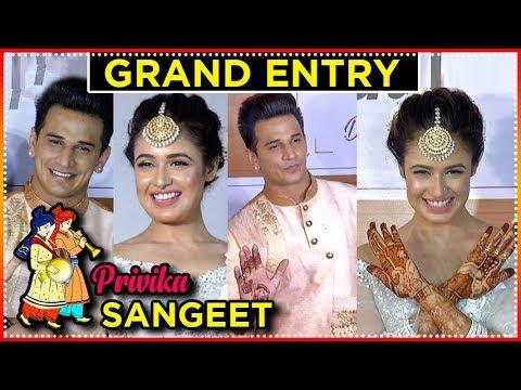 Prince Narula And Yuvika Chaudhary GRAND ENTRY At