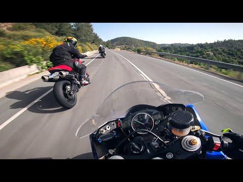 Motorcycle Street Riding With Yamaha R6