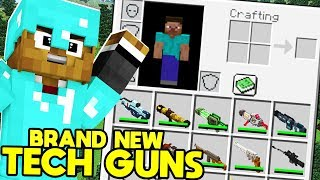 BRAND NEW Minecraft MODDED Hunger Games MORPH ANIMALS MOD w/ FUTURE TECH GUNS | JeromeASF