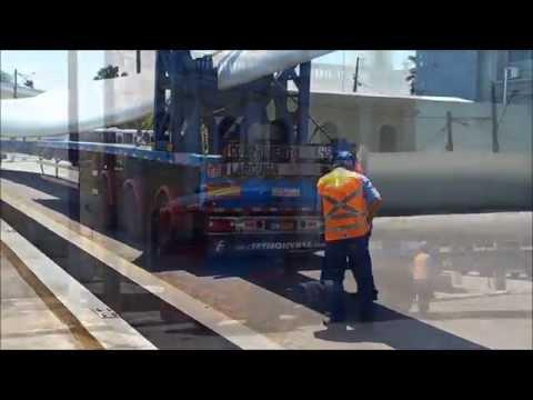 ALIANÇA ENERGIA - Descarga de pás eólicas no Porto de Cabedelo/PB