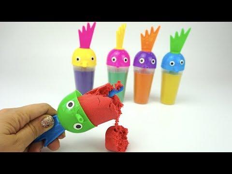 Сюрпризы и Игрушки для детей. Кинетический песок сюрпризы в песке. Видео для детей