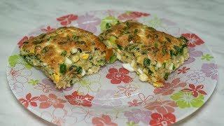 Заливной пирог с луком и яйцом в духовке