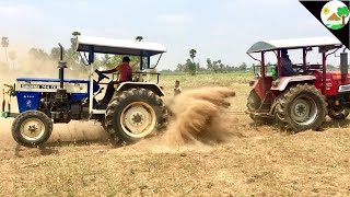 Swaraj vs Mahindra - tractor racing video & Tractor Tochan Punjab style -Come to Village