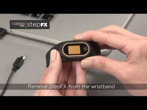 Getting Started Copper Fit Step FX Fitness Tracker