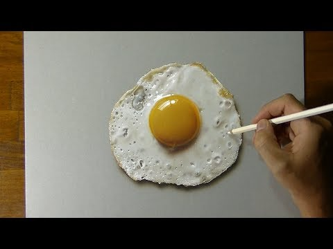 A Rapid Timelapse Tutorial Showing How to Create a 3D Drawing of a HyperRealistic Fried