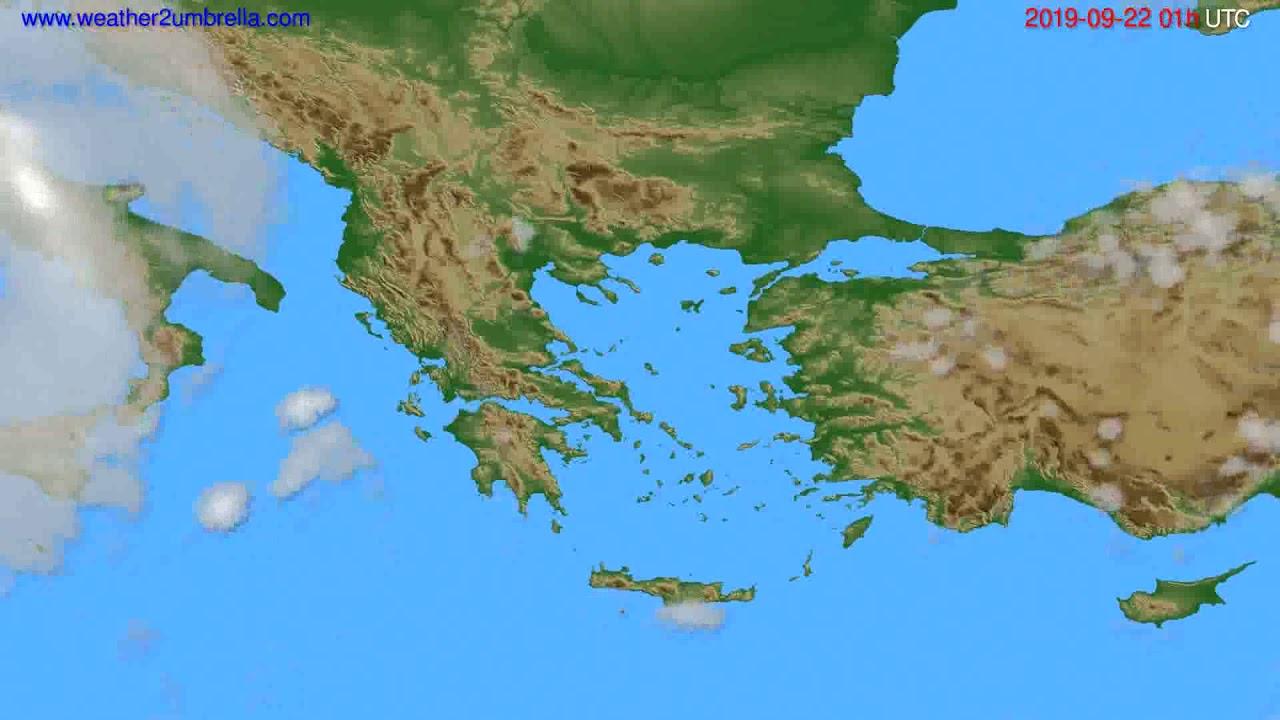 Cloud forecast Greece // modelrun: 00h UTC 2019-09-20