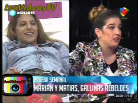 Marian y Matias se tiraron a la pileta vestidos de pollo GH 2015 #GH2015 #GranHermano