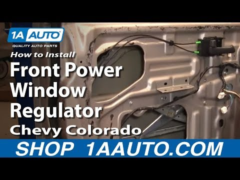 How To Install Replace Front Power Window Regulator w/ Motor Chevy Colorado 04-12 1AAuto.com