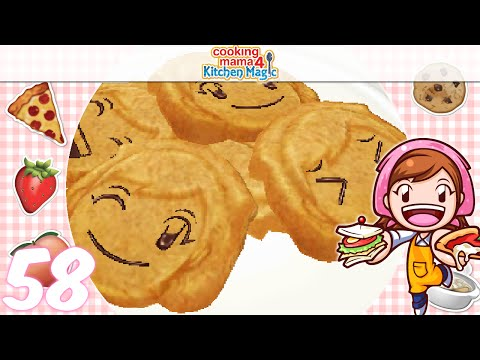 [Let's Play] Cooking Mama 4 Kitchen Magic - EP58: Cookies ⊂((・▽・))⊃