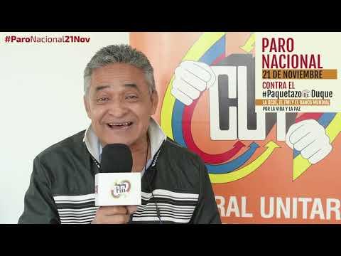 Luis Fernando Loaiza invita al #ParoNacional21N