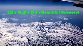 Some footage of us flying over Russia on our way to Japan. Beautiful scenery, caught the tail end of everything before we headed back over the Pacific Ocean again.