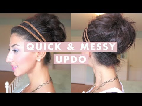 bun - Here's a super quick & easy hairstyle for an everyday look. It's cute, it's simple & I hope you guys enjoy it! What I used: - Denman D3 Teasing Brush - Rat t...