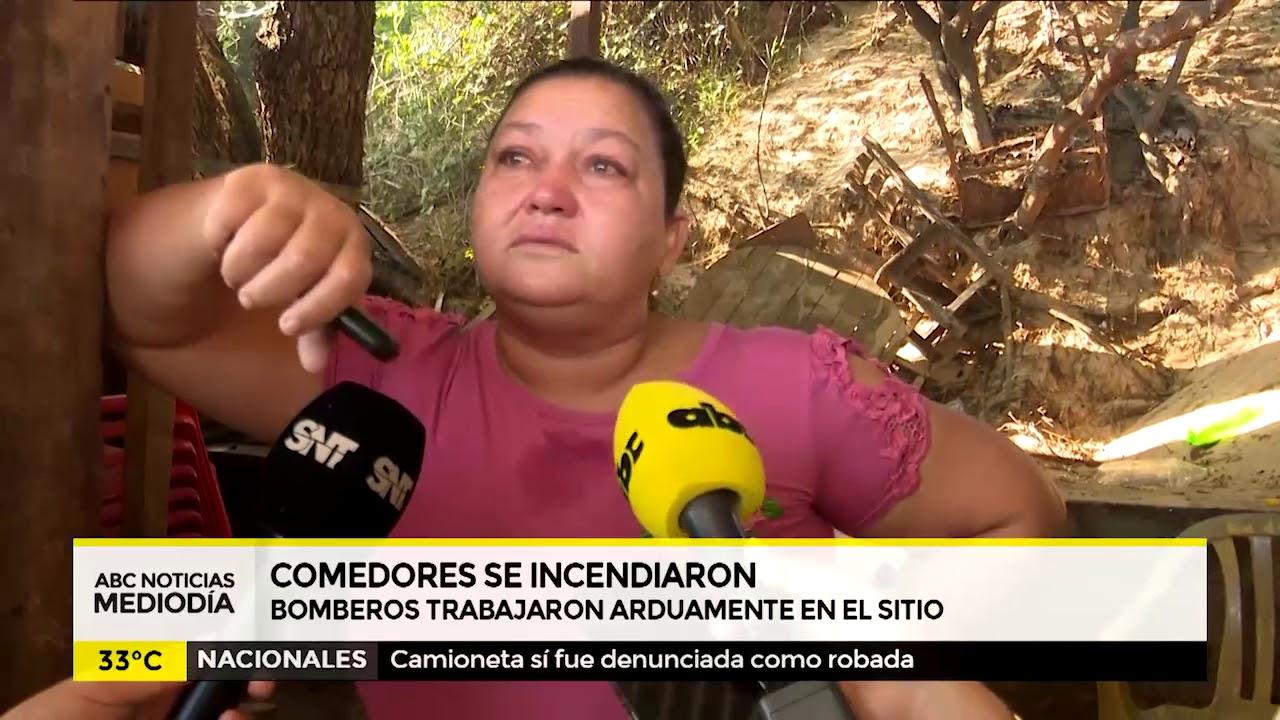 Incendio en comedores de Mariano Roque Alonso