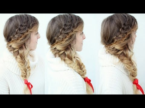 Braid hairstyles - Braided Side Swept  Holiday Hairstyle  Holiday Hairstyles  Braidsandstyles12
