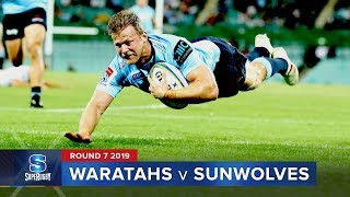 Waratahs v Sunwolves Rd.7 2019 Super rugby video highlights | Super Rugby Video Highlights