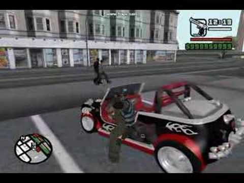 Gta sa modified cars and guns
