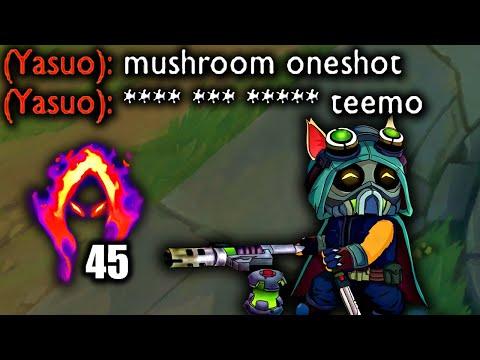 TEEMO ONESHOTS WITH MUSHROOMS (DARK HARVEST + LUDEN'S TEMPEST)