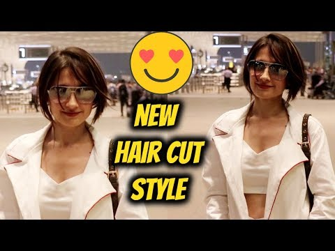 New hair Cut & Style | Sanjeeda Sheikh | Spotted At Airport