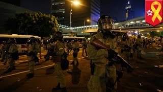 Hong Kong protest: police deploy tear gas and pepper spray on protesters