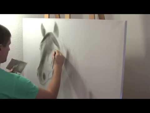 Pferd malen mit Öl