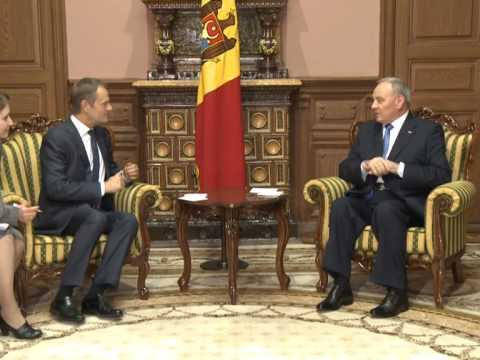 Președintele Nicolae Timofti a avut o întrevedere cu prim-ministrul Republicii Polone, Donald Tusk