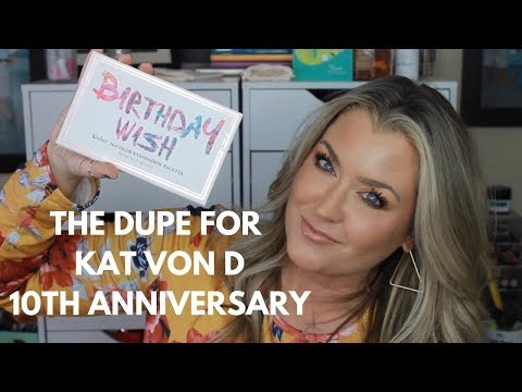 Birthday messages - CCOLOR COSMETICS Birthday Wish palette review  DUPE for the Kat Von D 10th Anniversary palette
