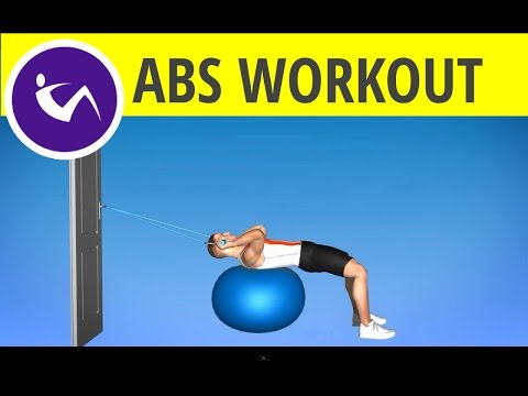Abs Workout for Men – Resistance Band and Exercise Ball Workout for Abs and Upper Body