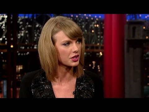 "Taylor Swift Talks ""Lousy Boyfriends"" on Letterman"
