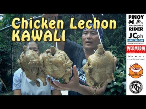 Pinoy CHICKEN LECHON KAWALI cooked at the Backyard ~ Dec.2018
