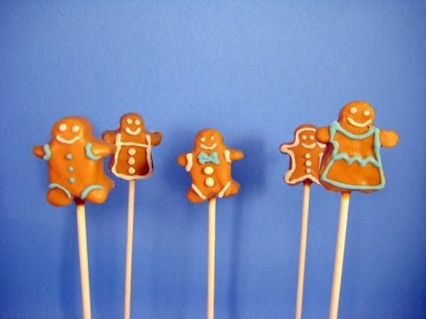 Gingerbread Man Cake Pops!