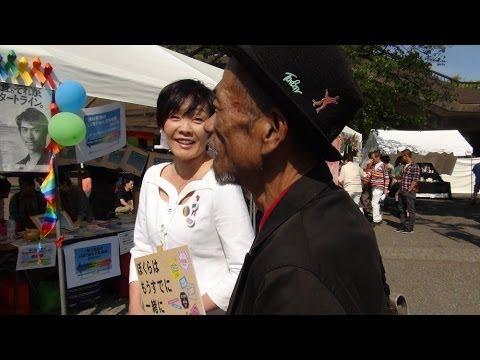 安倍昭恵さんにインタビュー@東京レインボーパレード