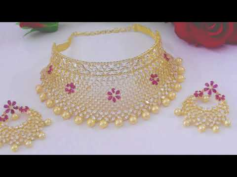Latest CZ Necklace Set || Bridal Jewellery || Women Fashion Swam Jewellery || Wedding collection