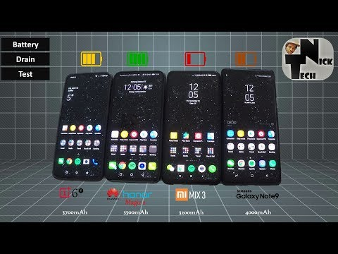 Video Honor Magic 2 vs OnePlus 6T vs Mi MIX 3 vs Note 9 Battery Life Drain Test download in MP3, 3GP, MP4, WEBM, AVI, FLV January 2017