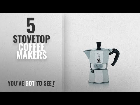 Top 10 Stovetop Coffee Makers [2018]: Bialetti Moka Express Espresso Maker, 3 Cup