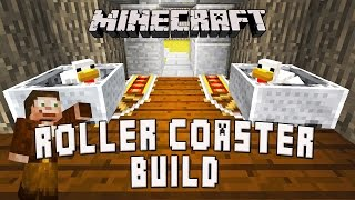 Minecraft: Building The Roller Coasters Line And Chicken Exit     (Scarland Coaster Build Ep.17)