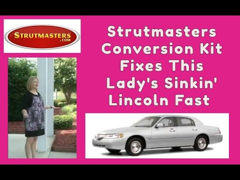 2002 Lincoln Town Car With A Strutmasters Air Suspension Conversion