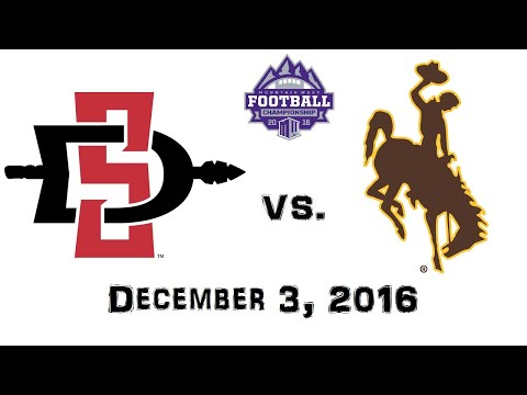 Mountain West Championship - December 3, 2016 - San Diego State Aztecs vs. Wyoming Cowboys Full Game (видео)