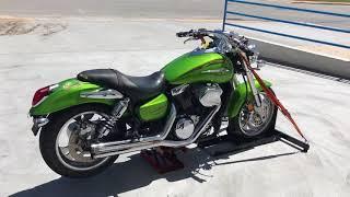 7. 2004 Kawasaki Vulcan Mean Streak VN 1600 B (green) 1941 Fallen Cycles