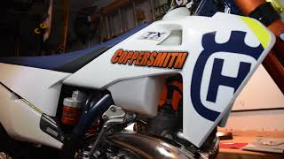 4. The unboxing of the 2019  Husqvarna TX 300