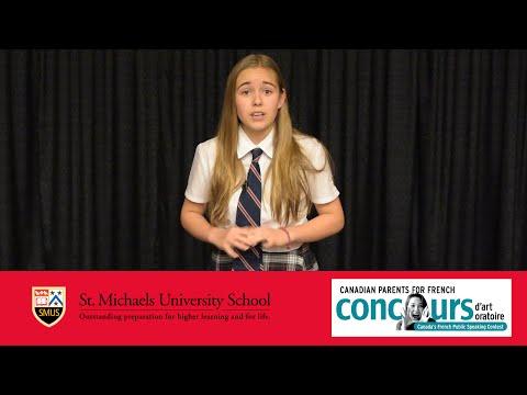Concours d'Art Oratoire: Amira (видео)