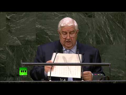 monster - The Syrian Foreign Minister Walid Muallem addressed the UN General Assembly on Monday, September 29, during a fifth day of debate as UN member states convened for the assembly's 69th session....