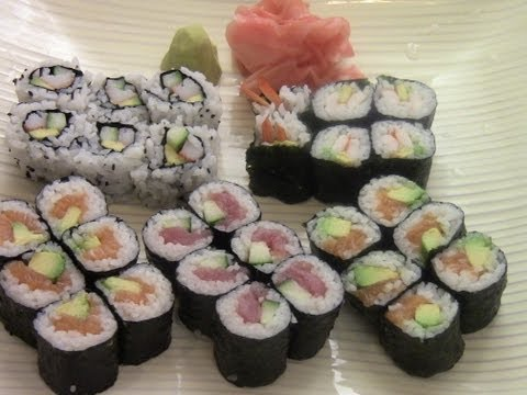 How To Make Simple And Delicious Sushi(1/2)
