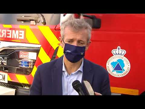 Alfonso Rueda agradece o traballo dos grupos de Protección Civil