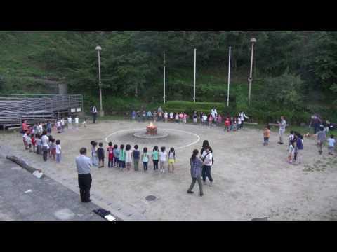 2017年07月14日広島暁の星幼稚園お泊まり保育キャンプファイヤー