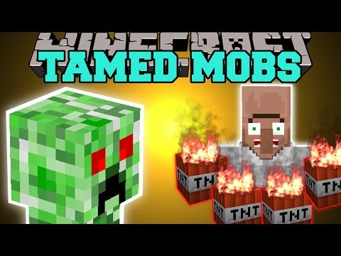 pet - The Tamed Mobs Mod allows you to tame creepers, spiders, & zombies! Help me out and share it with your friends! Epic Shirts! https://www.districtlines.com/Po...