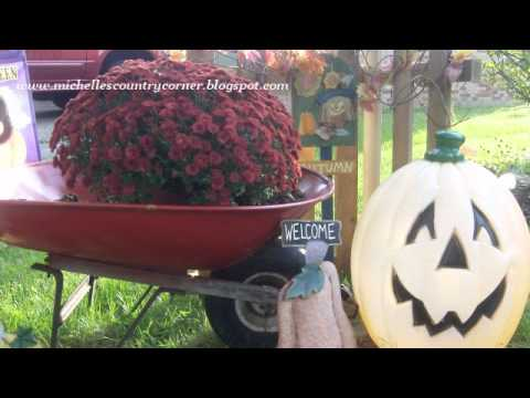 Country Decorating Ideas - 2011 Outside Fall Decor